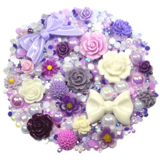 'ORCHID' Theme Rhinestone and Cabochon Mix